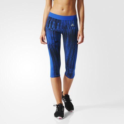 Adidas - Colección training calza capri azul Mujer 2016