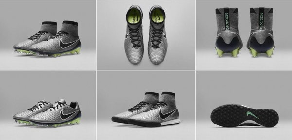 Nike Magista en peltre metalizado botines 2016