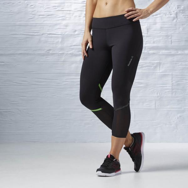 reebok calza negra training mujer 2017
