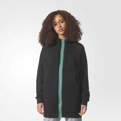 Adidas - Campera negra con capucha Deportiva Mujer Invierno 2018