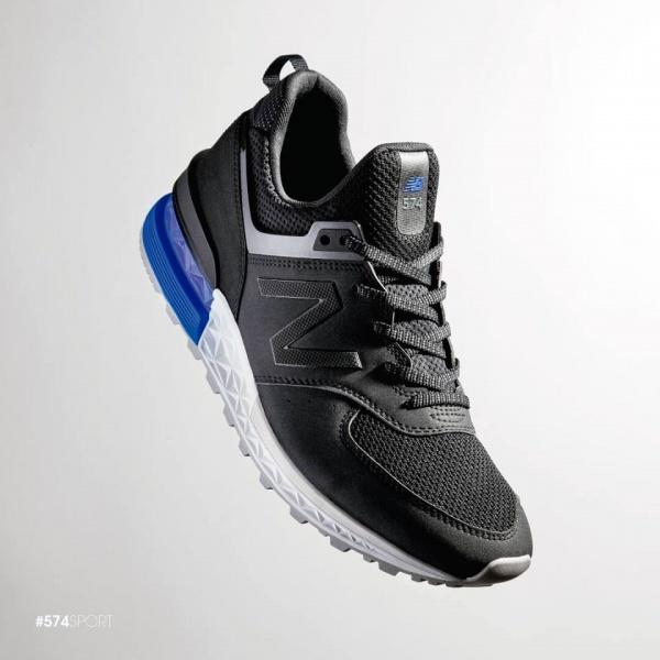 New Balance - Zapatillas deportivas negras 574 Sport 2018