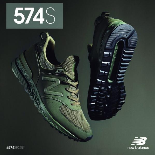 New Balance - Zapatillas deportivas verdes 574 Sport 2018