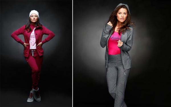 LAULA -  conjunto deportivo rojo y gris para mujer invierno 2015