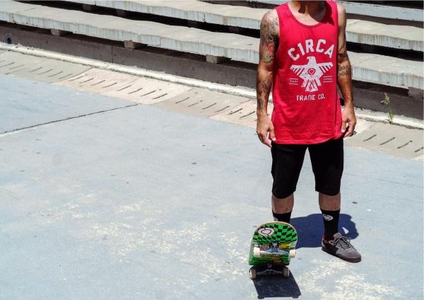 Circa - Ropa skaters - Coleccion verano 2016 - Musculosa roja hombre ... b6941c228d6