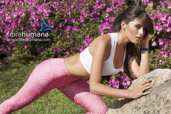 Humana - Ropa deportiva mujer Loly Antoniale top y calza rosa estampada primavera verano 2016