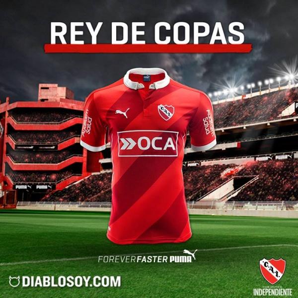 Camiseta puma rallada de Independiente 2016