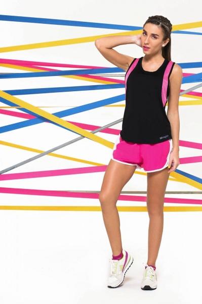 MAGHER - short deportivo microfibra fucsia para correr mujer 2016