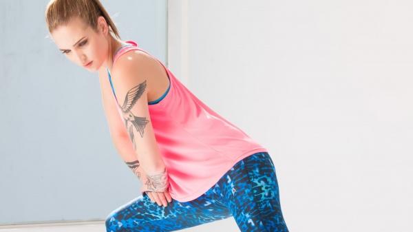 Aptitud - Musculosa y claza estampada Mujer Primavera verano 2016
