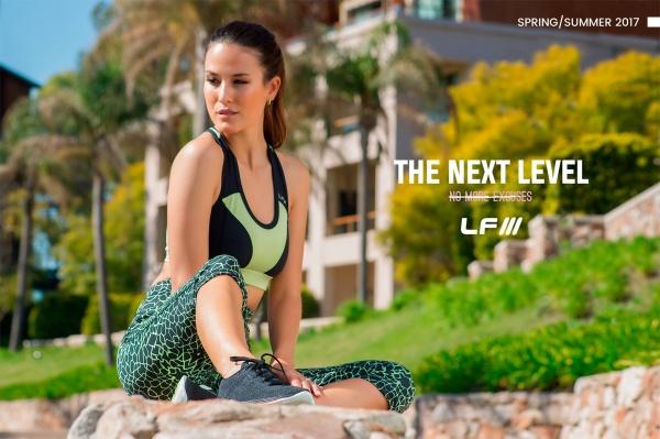 ladyfit top y calza estampada deportiva femenina primavera verano 2017