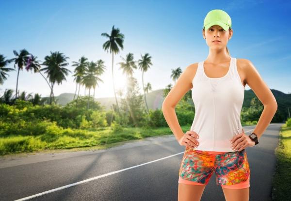 bloom sports short estampado y musculosa deportiva hombre mujer verano 2017