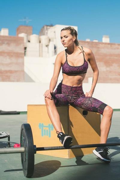 vandalia top deportivo estampado mujer verano 2017