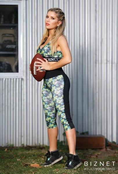 BIZNET - Top y calza estampada Ropa Deportiva Mujer Primavera Verano 2018