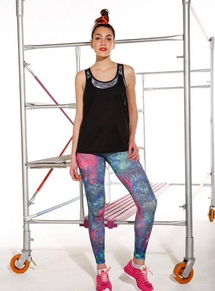 Destreza Deportiva - Calza estampada deportivo Fitness Mujer Verano 2018