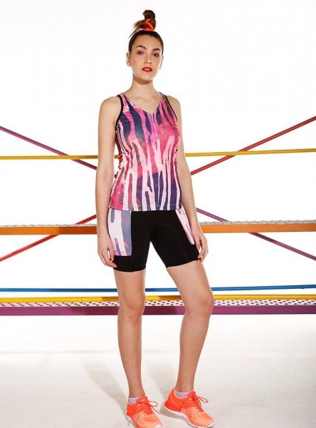 Destreza Deportiva - Musculosa estampada deportiva Fitness Mujer Verano 2018