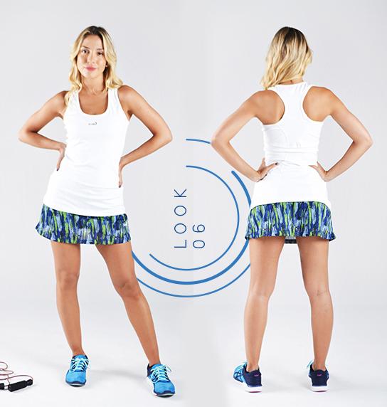 Runik - Musculosa Y falda estampada Mujer Verano 2018