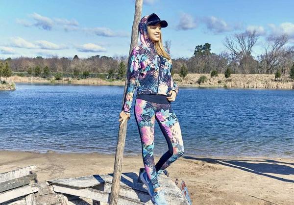 DGV - Conjunto campera y calza estampados Ropa Deportiva Mujer 2018