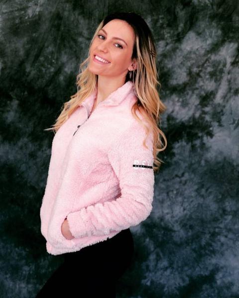 Body Sculpt - Campera rosa Deportiva Mujer Invierno 2018